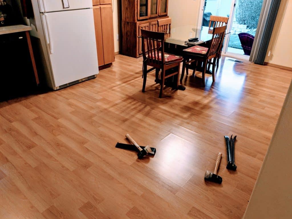 Kitchen Laminate Install